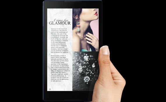 Màn hình máy tính bảng Lenovo Tab 3 A8 ZA180001VN hiển thị sắc nét