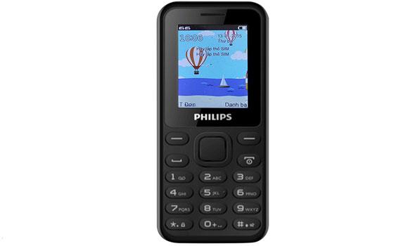 Điện thoại Philips E105 có pin dụng lượng 800 mAh