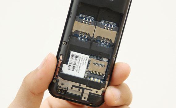 Điện thoại Philips E105 hỗ trợ 2 khe gắn sim