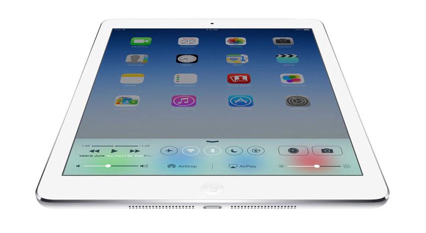 iPad Air 16GB Wifi 3G màu bạc với hệ điều hành iOS 9