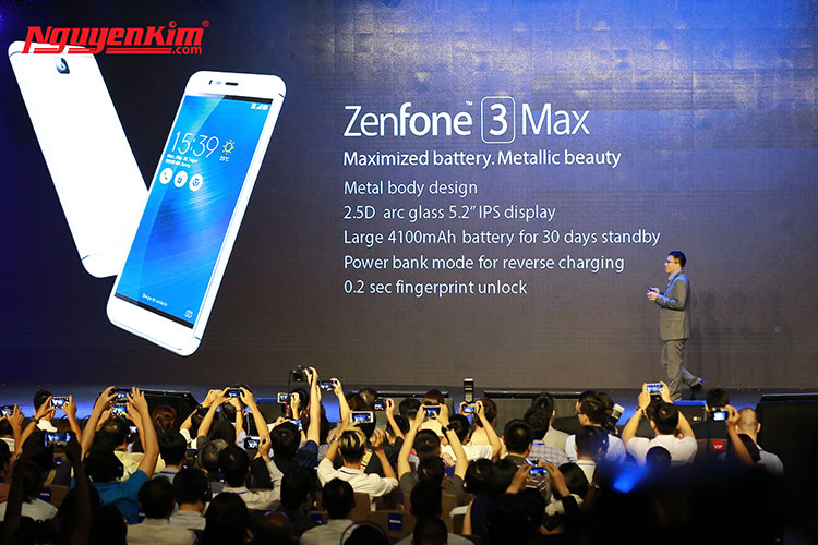 Điện thoại Asus Zenfone 3 Max pin 4100mAh