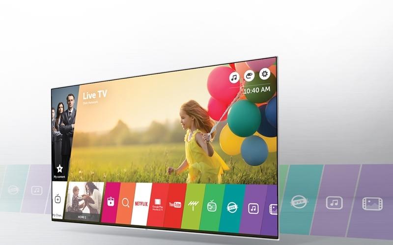 Hệ điều hành WebOS của TV LG thân thiện người dùng