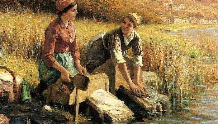 cách giặt đồ từ ngày xưa