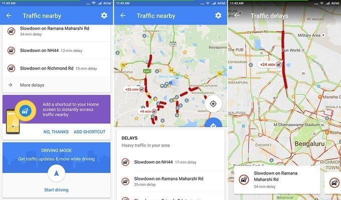 """Traffic Nearby"" cho Android"
