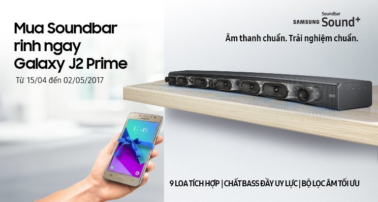 Mua Soundbar rinh ngay Galaxy J2 Prime