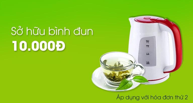 Sở hữu bình đun giá 10.000 VNĐ khi mua với hóa đơn thứ 2