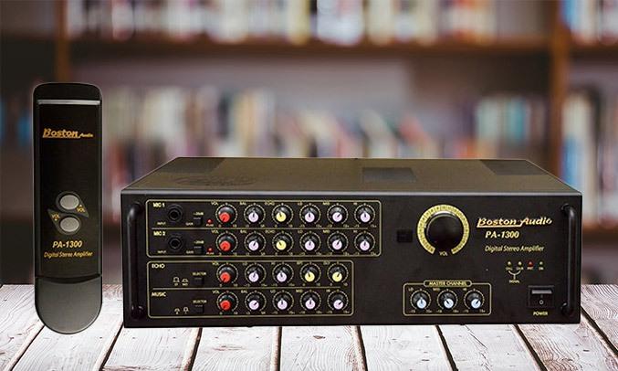 Amply Boston Audio PA-1300 có kết nối tiện lợi