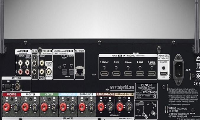 Amply Demon AVR-X1400H BKE2 giúp kết nối tiện lợi