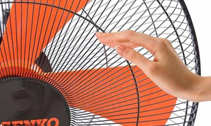 QUẠT TREO SENKO DCN1886 ĐEN CAM - Độ sải cánh lớn, tạo nguồn gió mát
