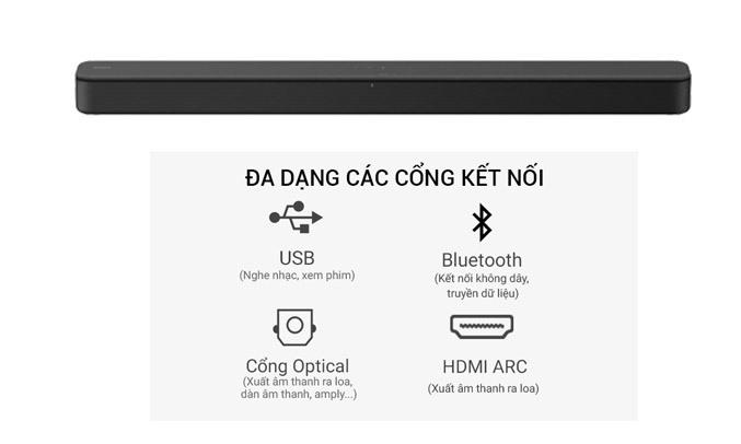 Dàn âm thanh Sound Bar Sony HT-S100F kết nối không dây nhanh chóng