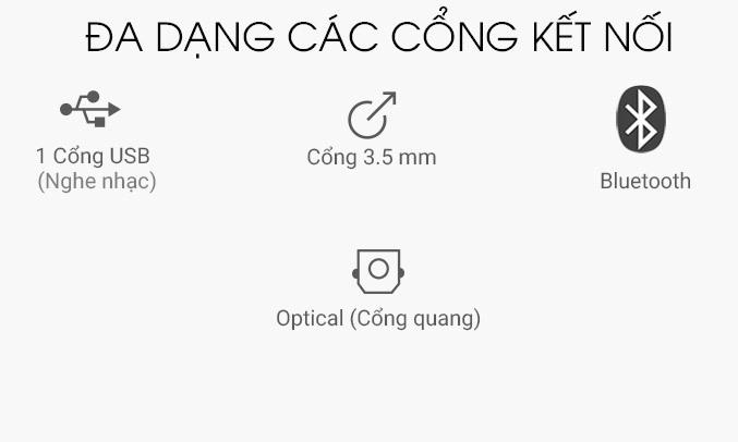 Loa thanh Samsung HW-K350 cổng kết nối tiện dụng