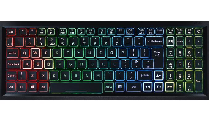 Laptop Acer Nitro AN515-55-77P9 i7-10750H 15.6 inch NH.Q7NSV.003 - Bàn phím led RGB 4 vùng