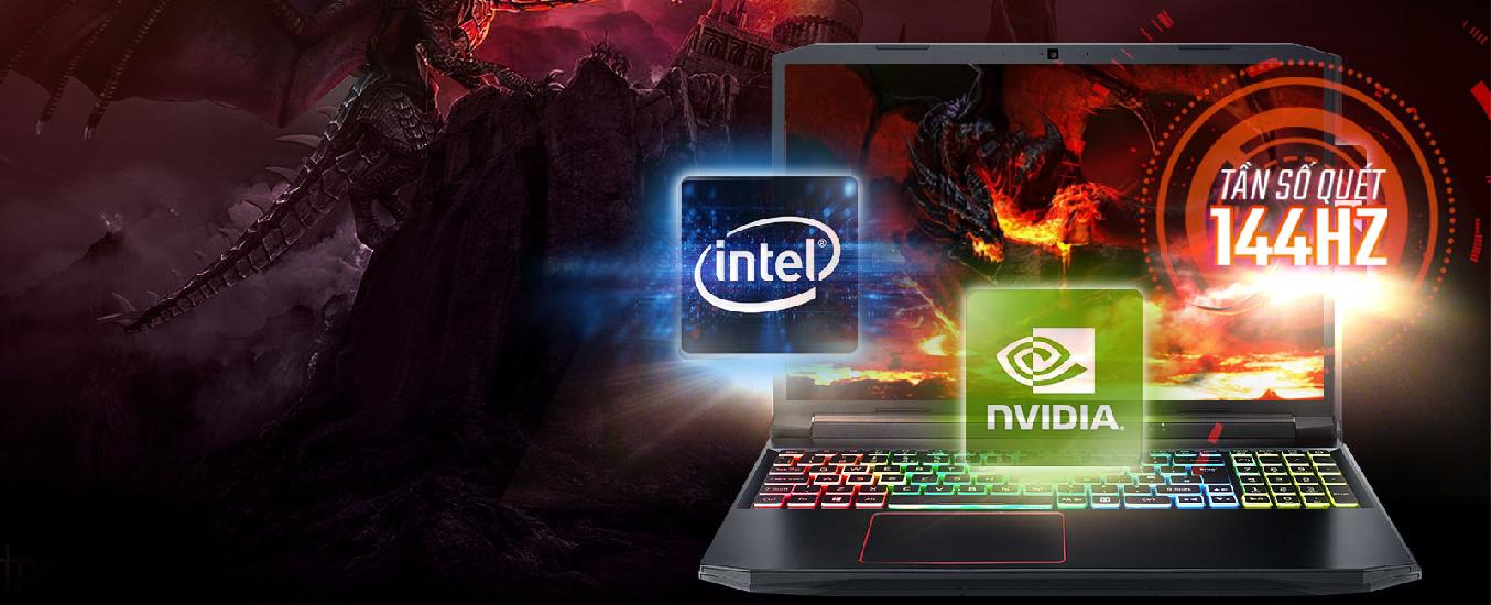 Laptop Acer Nitro AN515-55-77P9 i7-10750H 15.6 inch NH.Q7NSV.003 - Chinh phục thế giới ảo vớivi xử lý Intel Core i7