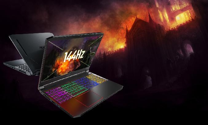 """Laptop Acer Nitro AN515-55-77P9 i7-10750H 15.6 inch NH.Q7NSV.003 - Màn hình kích thước 15,6"""""""