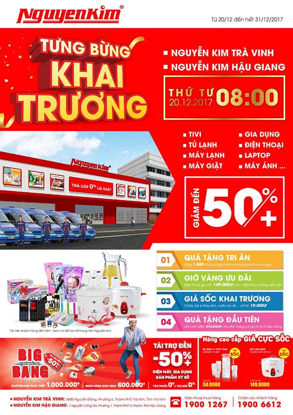 Đừng quên cuộc hẹn tại TTMS Nguyễn Kim Hậu Giang và Trà Vinh vào ngày 20/12 này nhé!