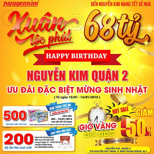 Chào mừng Nguyễn Kim Quận 2 sang tuổi mới với những khuyến mãi cực lớn
