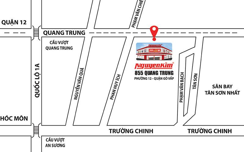 Bản đồ hướng dẫn đường đi đến TTMS Nguyễn Kim Quang Trung