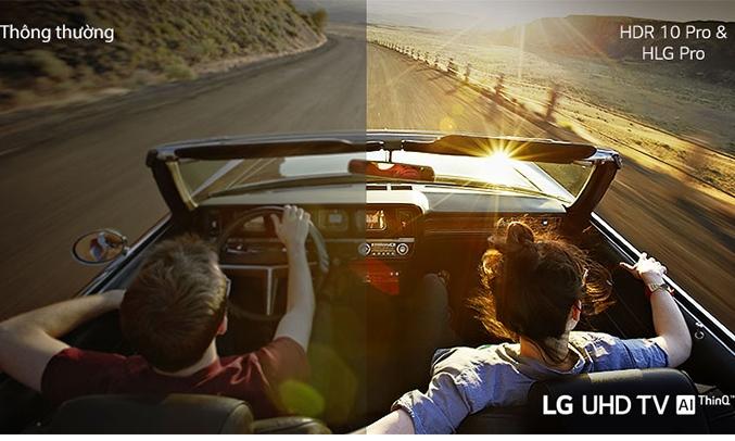 Smart Tivi LG 4K 55 inch 55UN7300PTC hiệu ứng đầy đủ