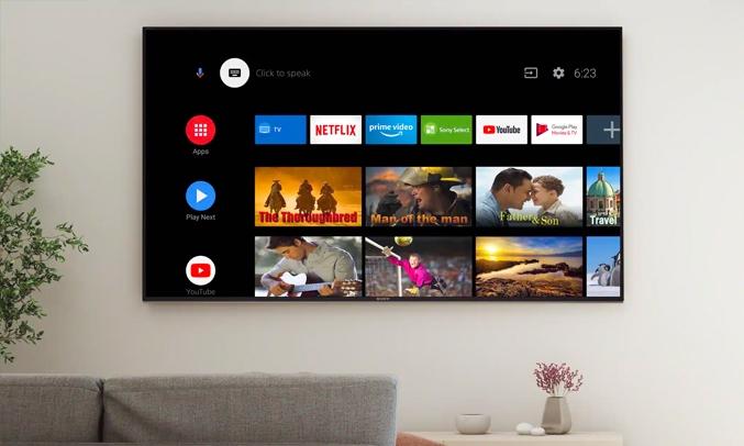 Android Tivi Sony 4K 43 inch KD-43X75 VN3 - Hệ điều hành Android 10