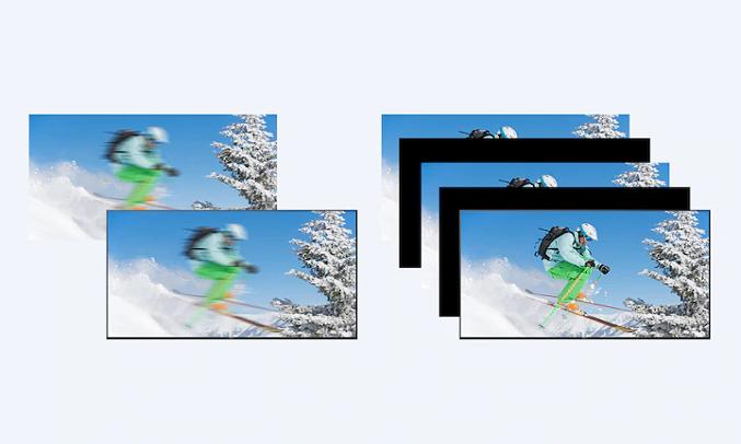 Android Tivi Sony 4K 43 inch KD-43X8050H VN3 - Giảm mờ ngay cả trong chuyển động nhanh