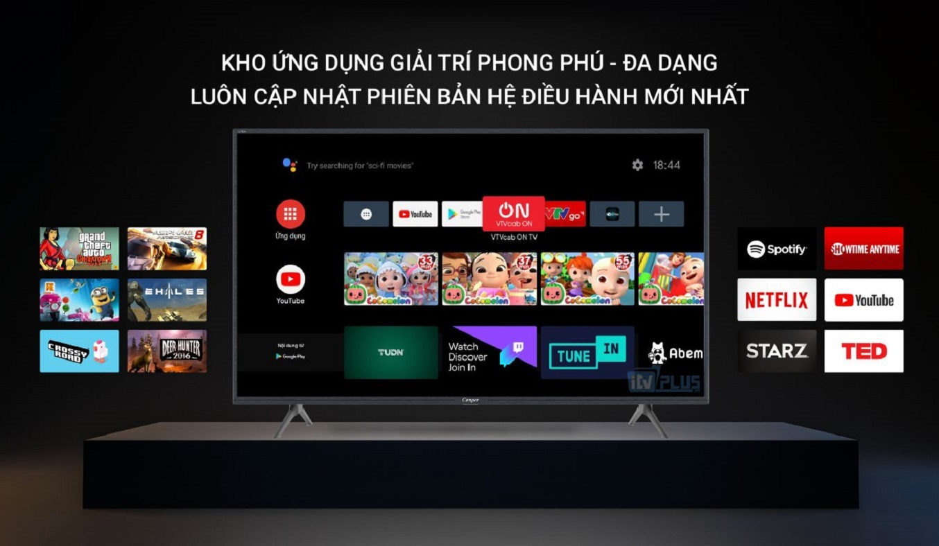Android Tivi Casper 43 inch 43FG5200 - Hệ điều hành Android 9