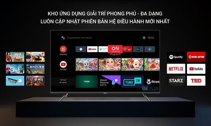 Android Tivi Casper 4K 50 inch 50UG6100 - Hệ điều hành Android 9
