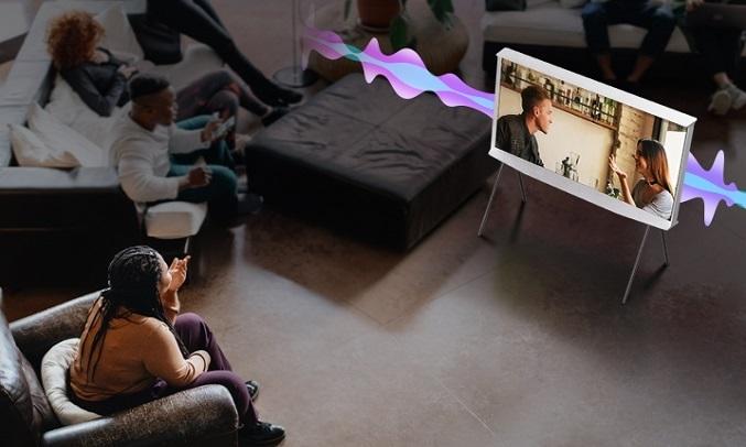 Smart Tivi QLED Samsung 4K 55 inch QA55LS01TAKXXV - Nghe rõ từng lời thoại