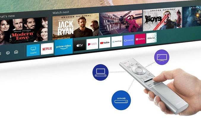 Smart Tivi QLED Samsung 4K 55 inch QA55LS01TAKXXV - Remote