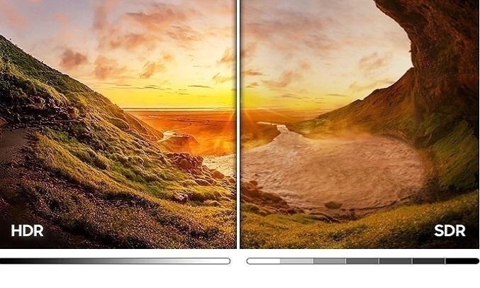 Smart Tivi Samsung Crystal UHD 4K 50 inch UA50AU7000KXXV - Công nghệ HDR