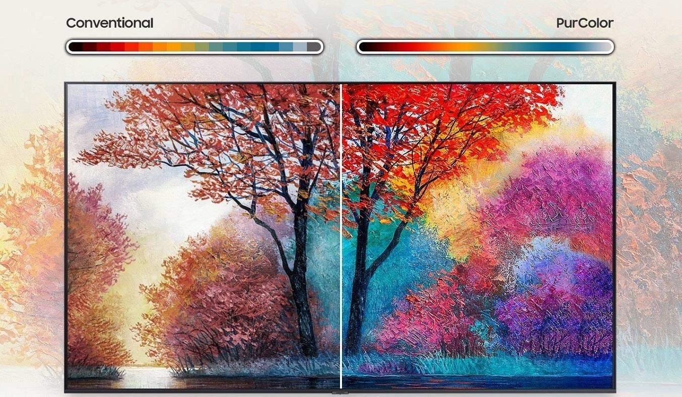 Smart Tivi Samsung Crystal UHD 4K 50 inch UA50AU7000KXXV - Công nghệ PurColor