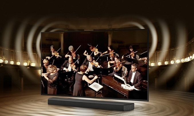 Smart Tivi Samsung Crystal UHD 4K 50 inch UA50AU7000KXXV - Công nghệ Q-Symphony