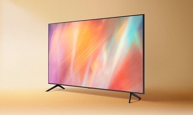 Smart Tivi Samsung Crystal UHD 4K 50 inch UA50AU7000KXXV - Thiết kế không viền 3 cạnh