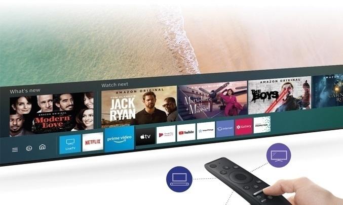 Smart Tivi Samsung 4K 50 inch UA50TU8000KXXV - Remote
