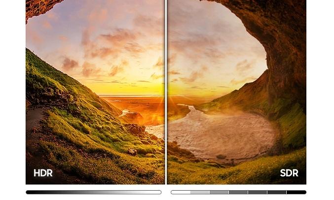 Smart Tivi Samsung Crystal UHD 4K 50 inch UA50AU9000KXXV - Công nghệ HDR