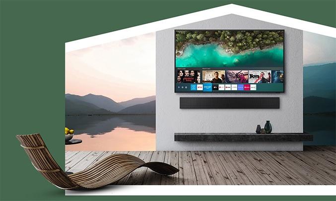 Smart Tivi Samsung 4K 75 inch QA75LST7TAKXXV kho ứng dụng giải trí đa dạng