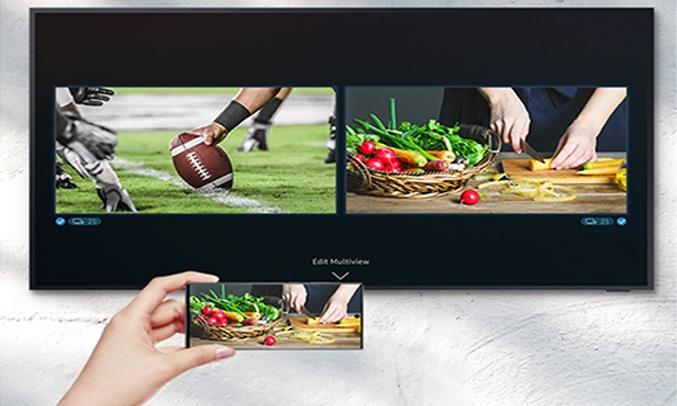 Smart Tivi Samsun Theo dõi nhiều nội dung cùng một lúcg 4K 75 inch QA75LST7TAKXXV