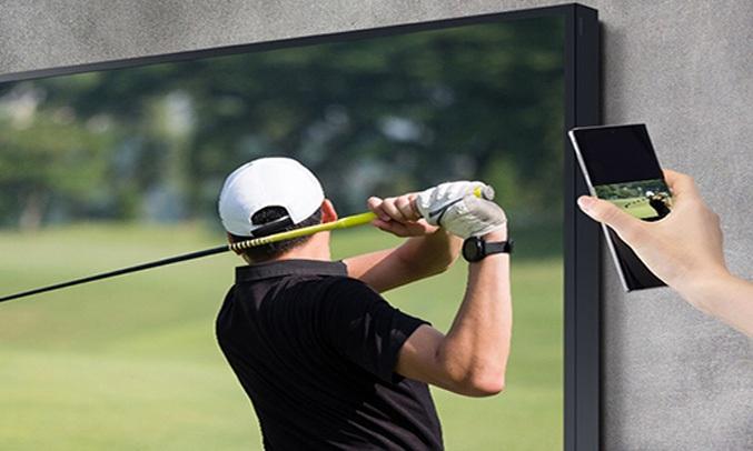 Smart Tivi Samsung 4K 75 inch QA75LST7TAKXXV Truyền tải chỉ với 1 lần chạm
