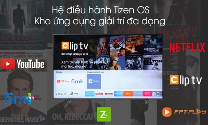 Smart Tivi Samsung 4K 50 inch UA50TU8100KXXV hệ điều hành tizen os