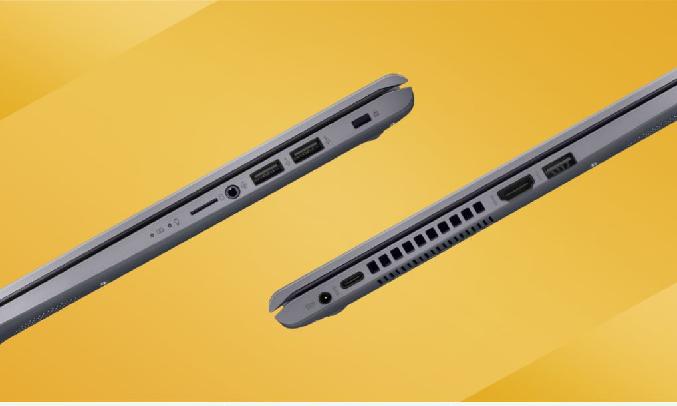 Asus 15 X509JA i3-1005G1 15.6 inch X509JA-EJ427T - Cổng kết nối đa dạng