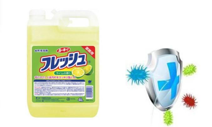 Nước rửa chén Wai Rokie Vdiệt khuẩn hiệu quả