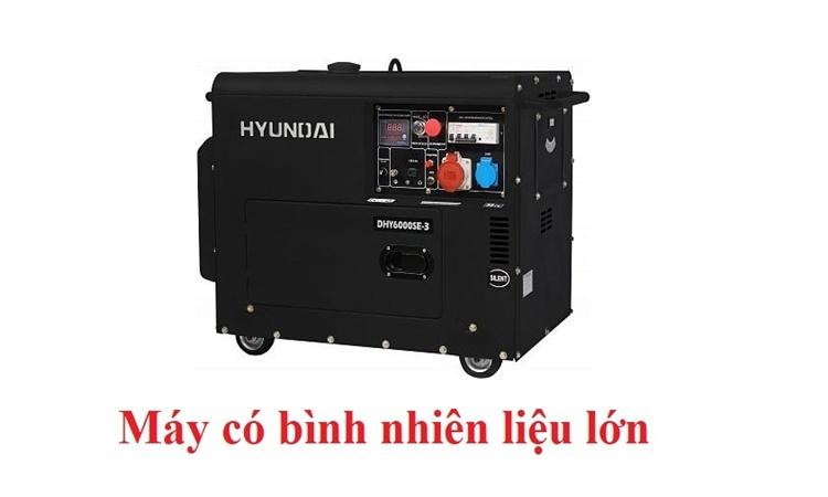 máy phát điện Huyndai DHY600SE-3 có bình nhiên liệu lớn