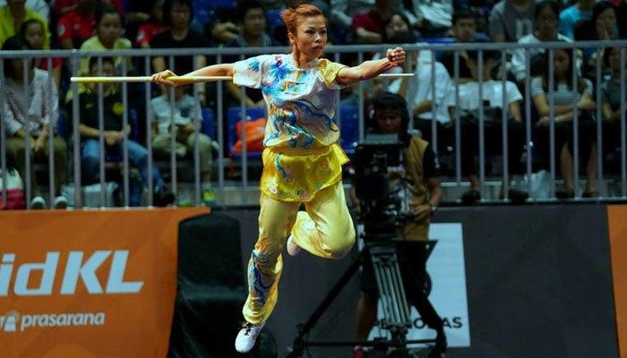 Phương Giang thi đấu nội dung côn thuật nữ tại SEA Games 2017
