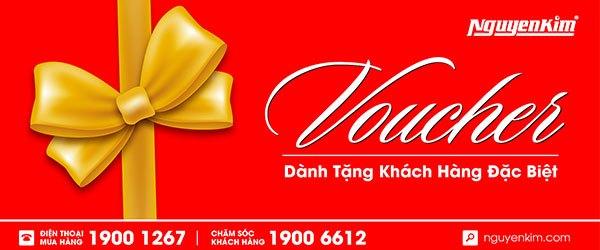 Voucher 500.000 VND mua sắm tại Nguyễn Kim Quận 1 dành tặng cho những vị khách hàng sử dụng dịch vụ tại Nguyen Kim Saigon Mall