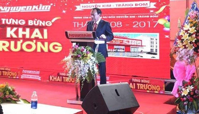 Bài phát biểu của đại diện Ban Giám Đốc tại sự kiện khai trương Trung tâm mua sắm Nguyễn Kim Trảng Bom