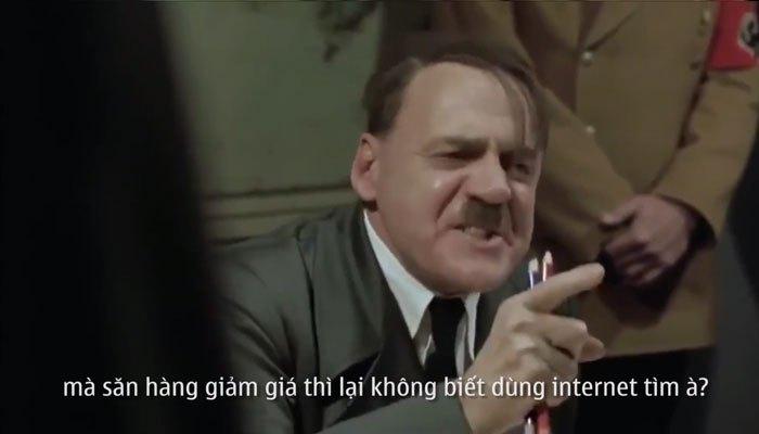 Hitler kiu đàn em phải mua hàng Online để được khuyến mãi