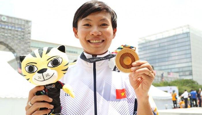 Một trong những cua rơ hàng đầu Đông Nam Á Nguyễn Thị Thật cũng giành được HCV và dần khẳng định vị thế xe đạp  Việt Nam tại SEA Games
