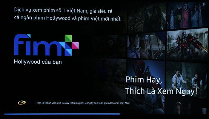 Giao diện Fim+ sẽ hiện ra trên tivi Samsung như trên hình ảnh.
