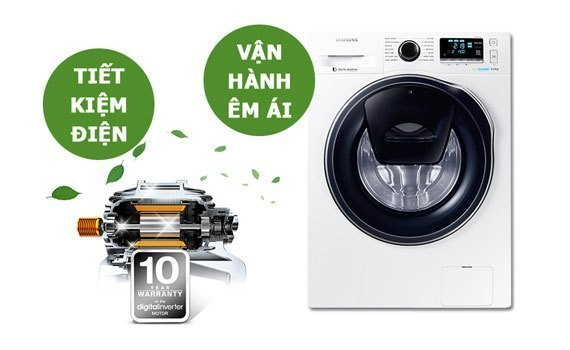 Máy giặt Samsung WW80J4233GW-SV vận hành bền bỉ