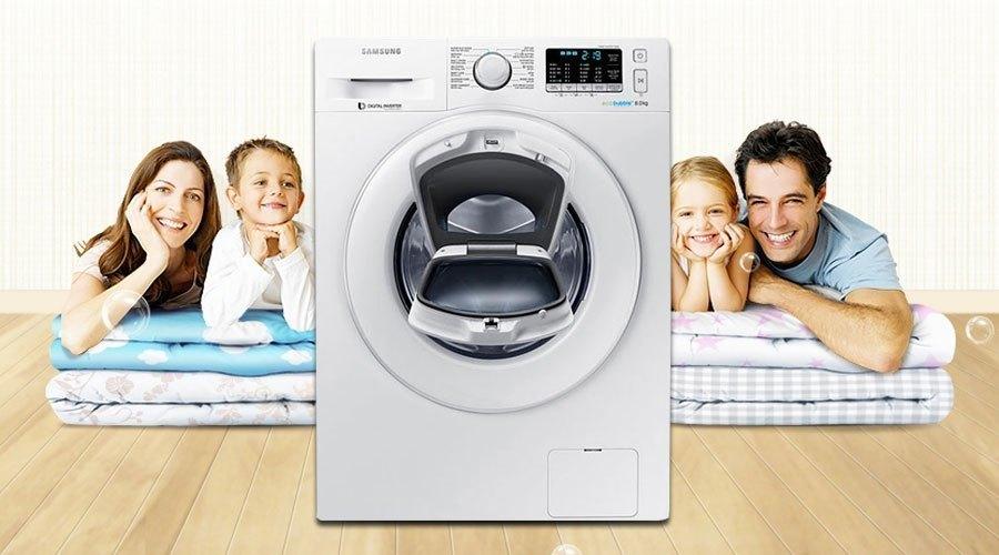 Máy giặt loại nào tốt? Máy giặt Samsung 8 kg WW80K5410WW