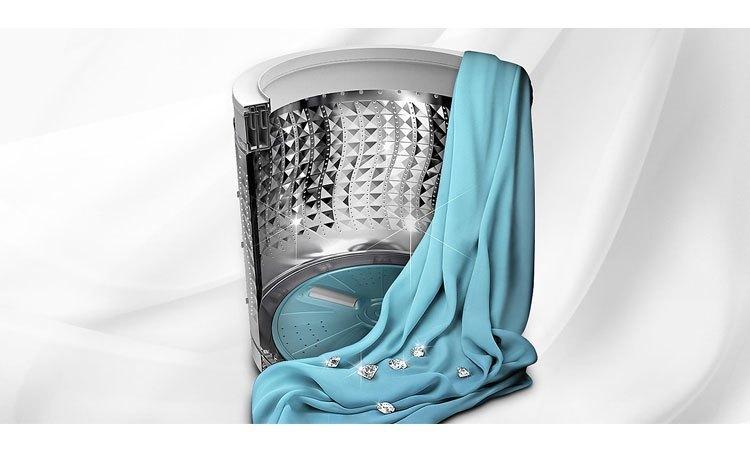 Máy giặt Samsung 8.5Kg WA85M5120SG lồng giặt kim cương độc đáo